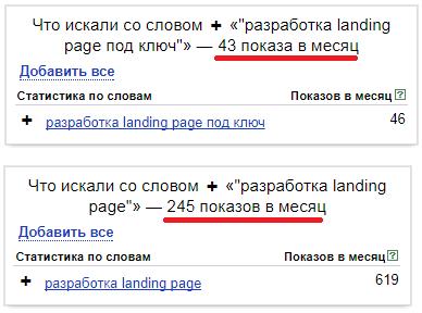 Статус «Мало показов» Яндекс.Директ – пример как расширить ключ