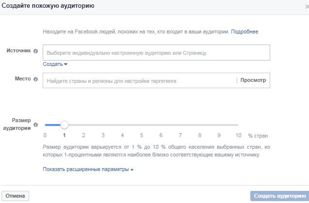 Коэффициент релевантности Facebook – создание похожей аудитории