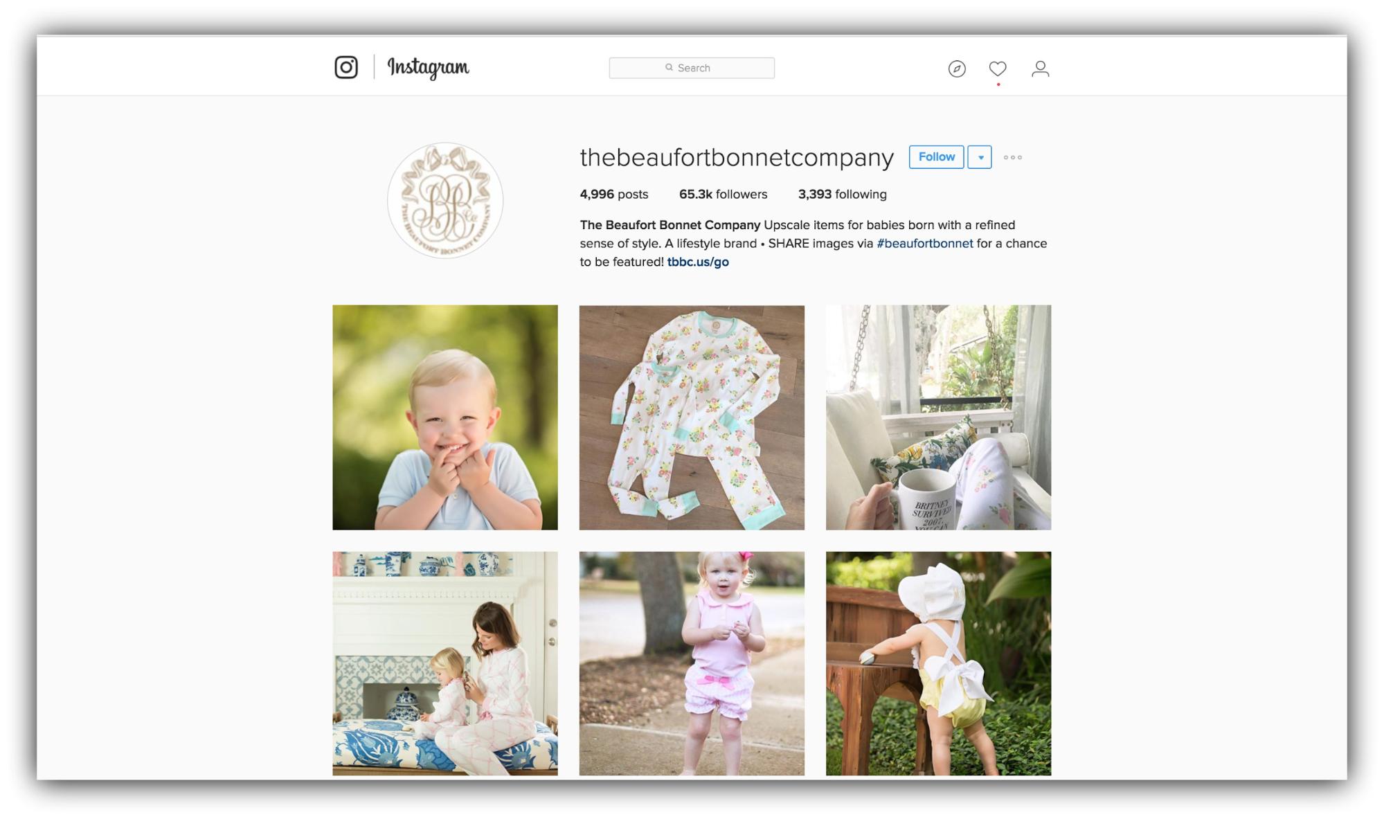 Продажи в Instagram – Пример Beaufort Bonnet Company