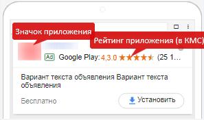 Мобильная реклама Google AdWords — стандартные объявления универсальной кампании для приложений