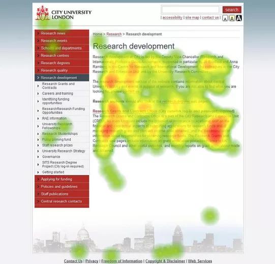 Термин интернет маркетинга - Heatmap, тепловая карта