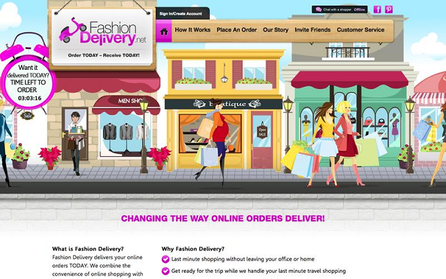 Сайт интернет магазина Fashion Delivery с крутым дизайном